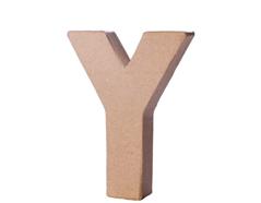 70126 Letra Y papel mache con volumen Innspiro