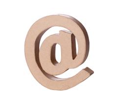 70129 Simbolo ARROBA papel mache con volumen Innspiro