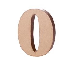 70140 Numero 0 papel mache con volumen Innspiro