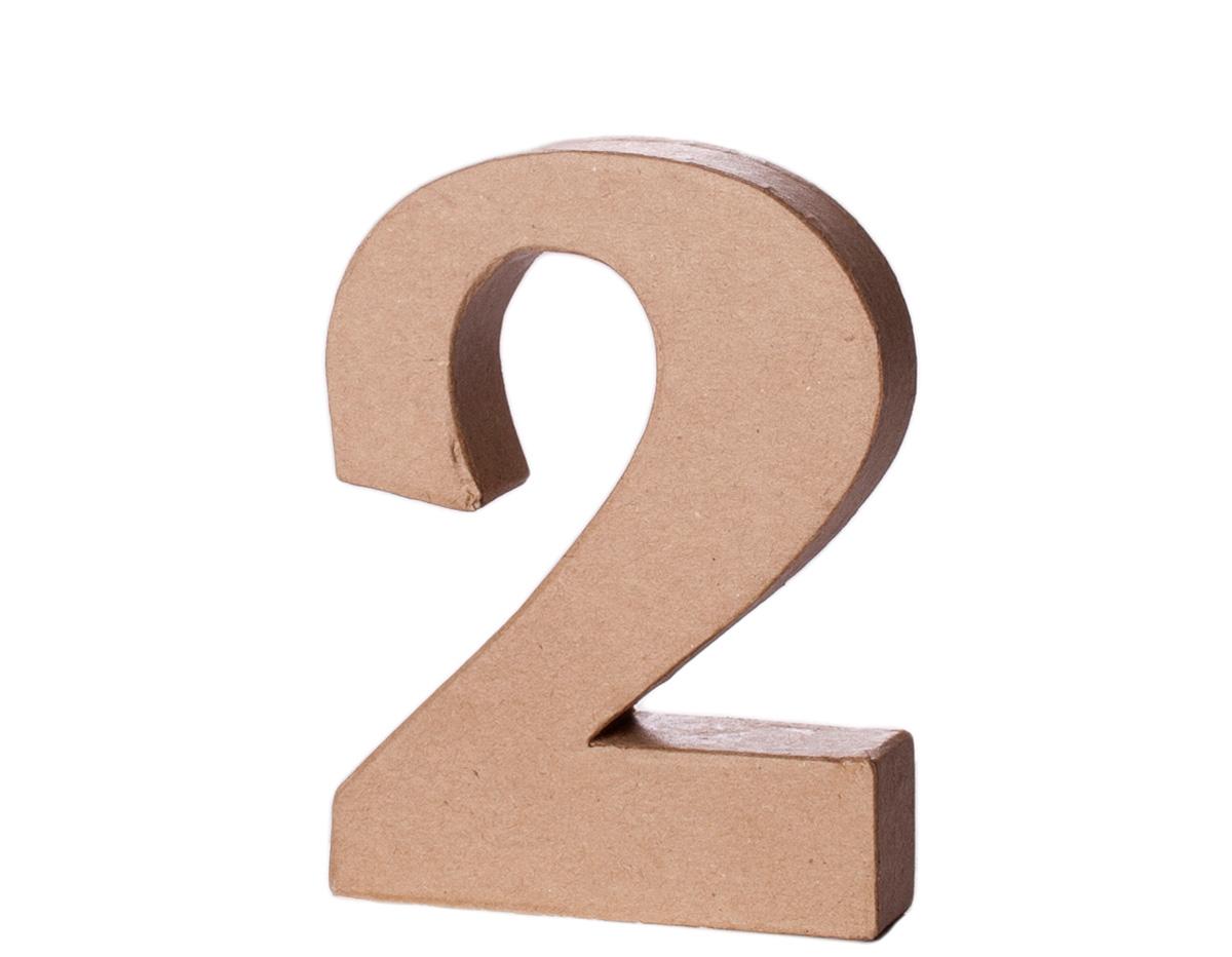 70142 Numero 2 papel mache con volumen Innspiro