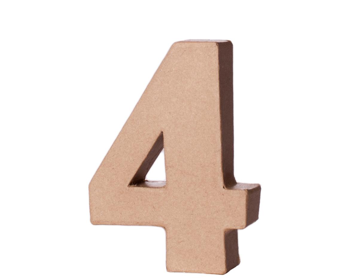 70144 Numero 4 papel mache con volumen Innspiro