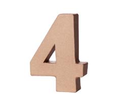 70144 Numero 4 papel mache con volumen Innspiro - Ítem