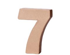 70147 Numero 7 papel mache con volumen Innspiro