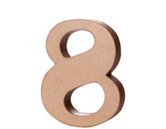 70148 Numero 8 papel mache con volumen Innspiro