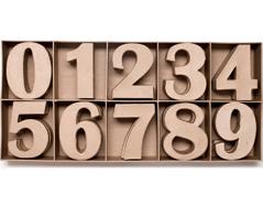 70153 Set 30 numeros papel mache surtidos 0-9 con volumen Innspiro