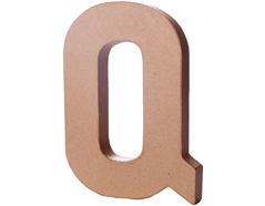 70218 Letra Q papel mache con volumen Innspiro