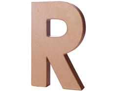 70219 Letra R papel mache con volumen Innspiro