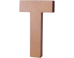 70221 Letra T papel mache con volumen Innspiro