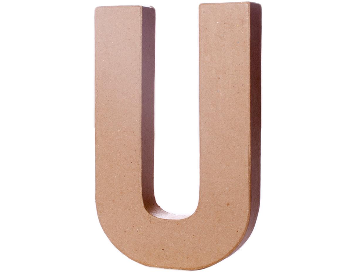 70222 Letra U papel mache con volumen Innspiro