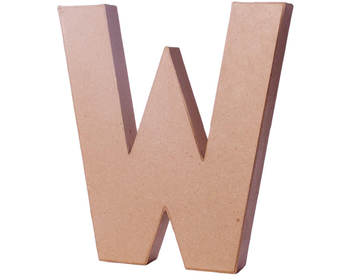 70224 Letra W papel mache con volumen Innspiro