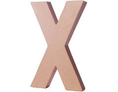 70225 Letra X papel mache con volumen Innspiro