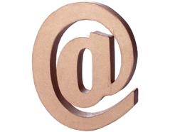70229 Simbolo ARROBA papel mache con volumen Innspiro