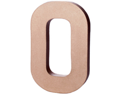 70240 Numero 0 papel mache con volumen Innspiro