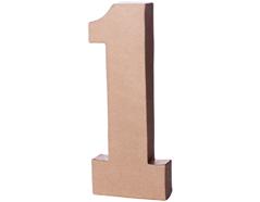 70241 Numero 1 papel mache con volumen Innspiro
