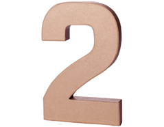 70242 Numero 2 papel mache con volumen Innspiro