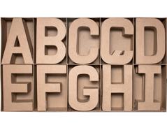 70250 Set 30 letras papel mache surtidas A-I con volumen Innspiro