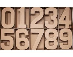 70253 Set 30 numeros papel mache surtidos 0-9 con volumen Innspiro