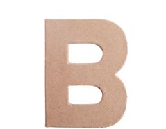 70801 Letra B papel mache plana Innspiro