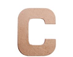 70802 Letra C papel mache plana Innspiro