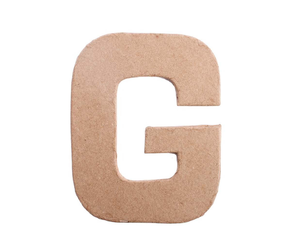 70807 Letra G papel mache plana Innspiro