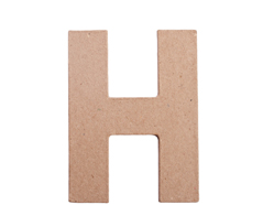 70808 Letra H papel mache plana Innspiro
