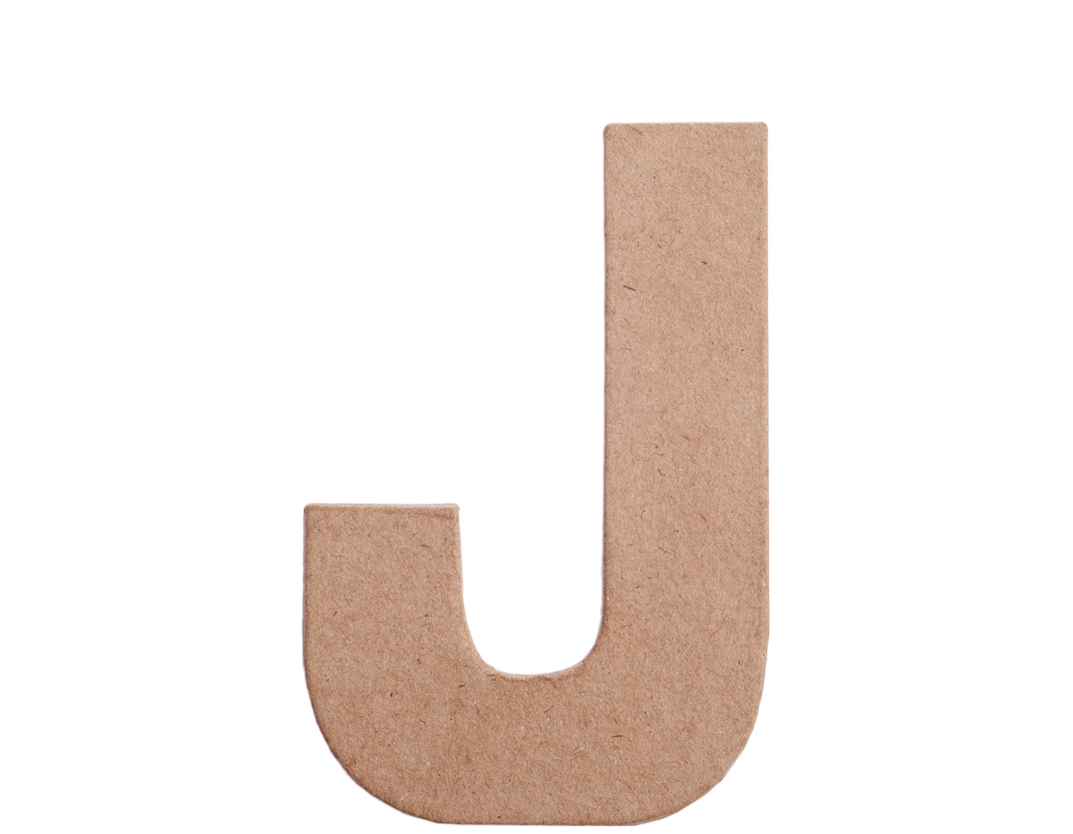 70810 Letra J papel mache plana Innspiro