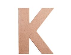 70811 Letra K papel mache plana Innspiro