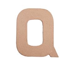 70818 Letra Q papel mache plana Innspiro