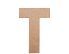 70821 Letra T papel mache plana Innspiro