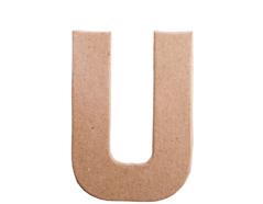 70822 Letra U papel mache plana Innspiro