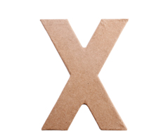 70825 Letra X papel mache plana Innspiro