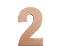 70842 Numero 2 papel mache plano Innspiro