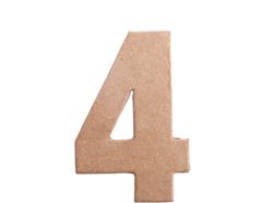 70844 Numero 4 papel mache plano Innspiro