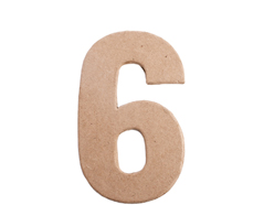 70846 Numero 6 papel mache plano Innspiro