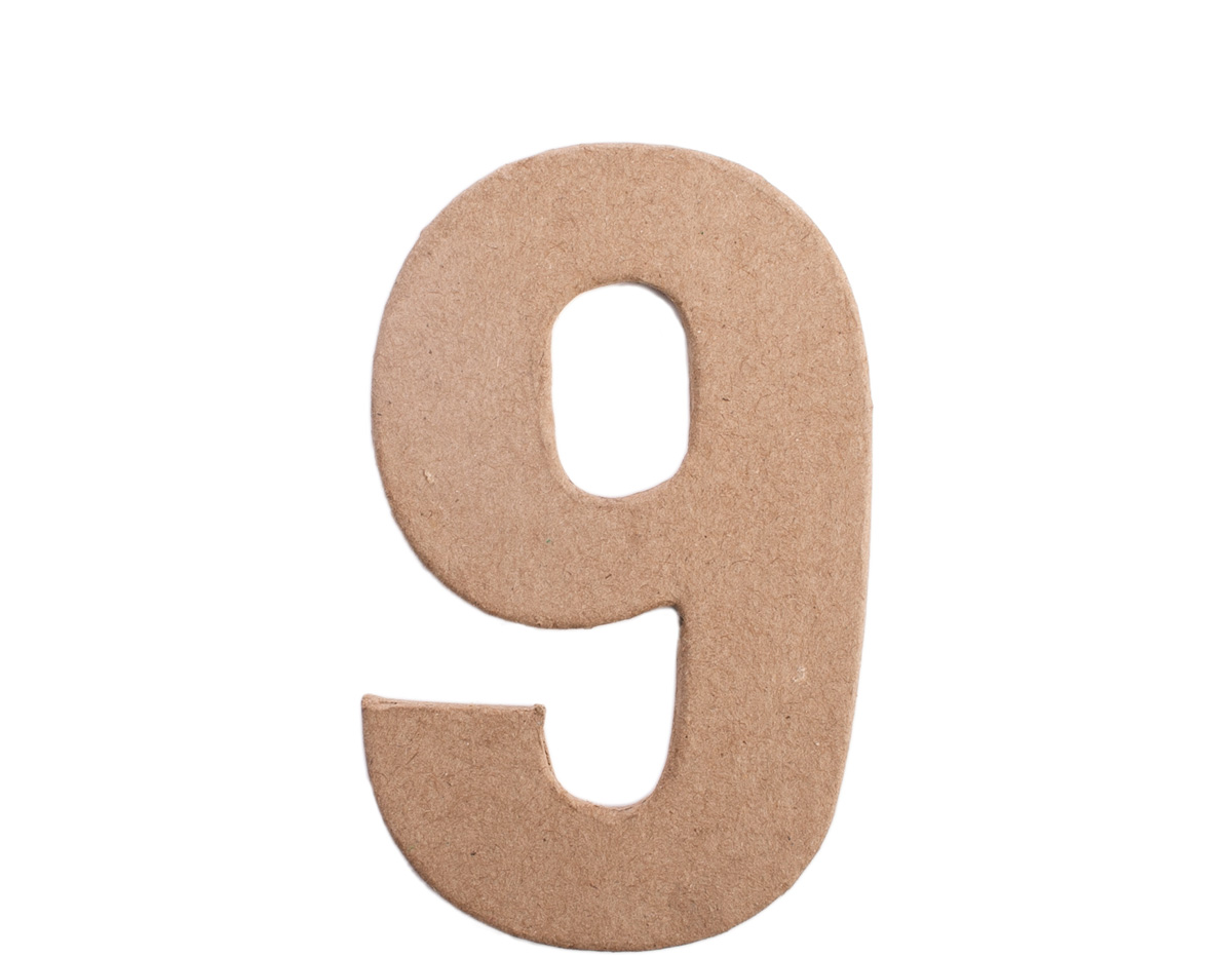 70849 Numero 9 papel mache plano Innspiro