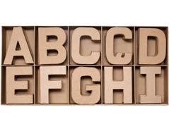70850 Set 100 letras papel mache planas surtidas A-I Innspiro