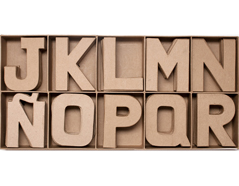 70851 Set 100 letras papel mache planas surtidas J-R Innspiro - Ítem