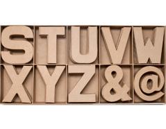 70852 Set 100 letras y simbolos papel mache planos surtidos S-Z AND ARROBA Innspiro
