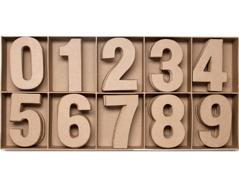 70853 Set 100 numeros papel mache planos surtidos 0-9 Innspiro