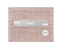 71092-9 Mini base y regla magneticos Mat Woodgrain We R Memory Keepers - Ítem