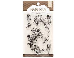 7310179 Set sellos acrilicos florituras fantasia 11x19cm BoBunny