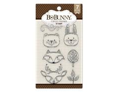 7310182 Set sellos acrilicos amigos del bosque 11x19cm BoBunny