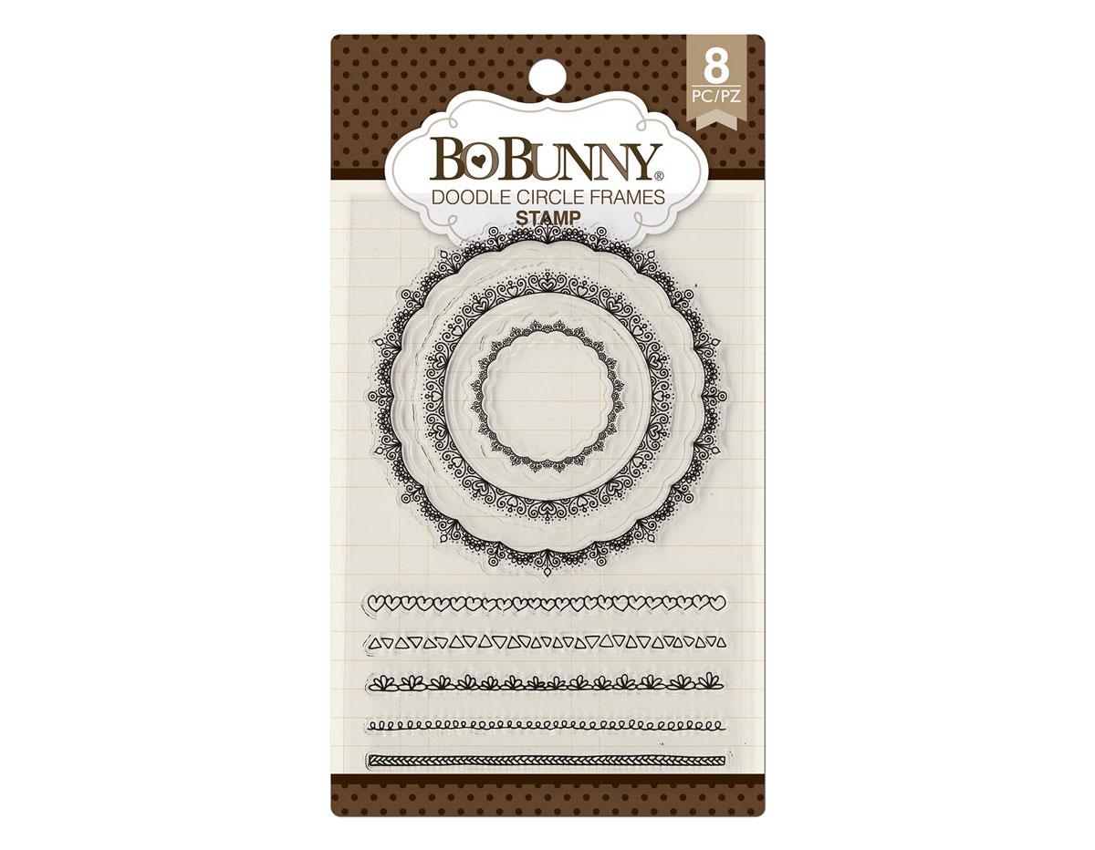 7310252 Set sellos acrilicos garabatos decorativos 11x19cm BoBunny