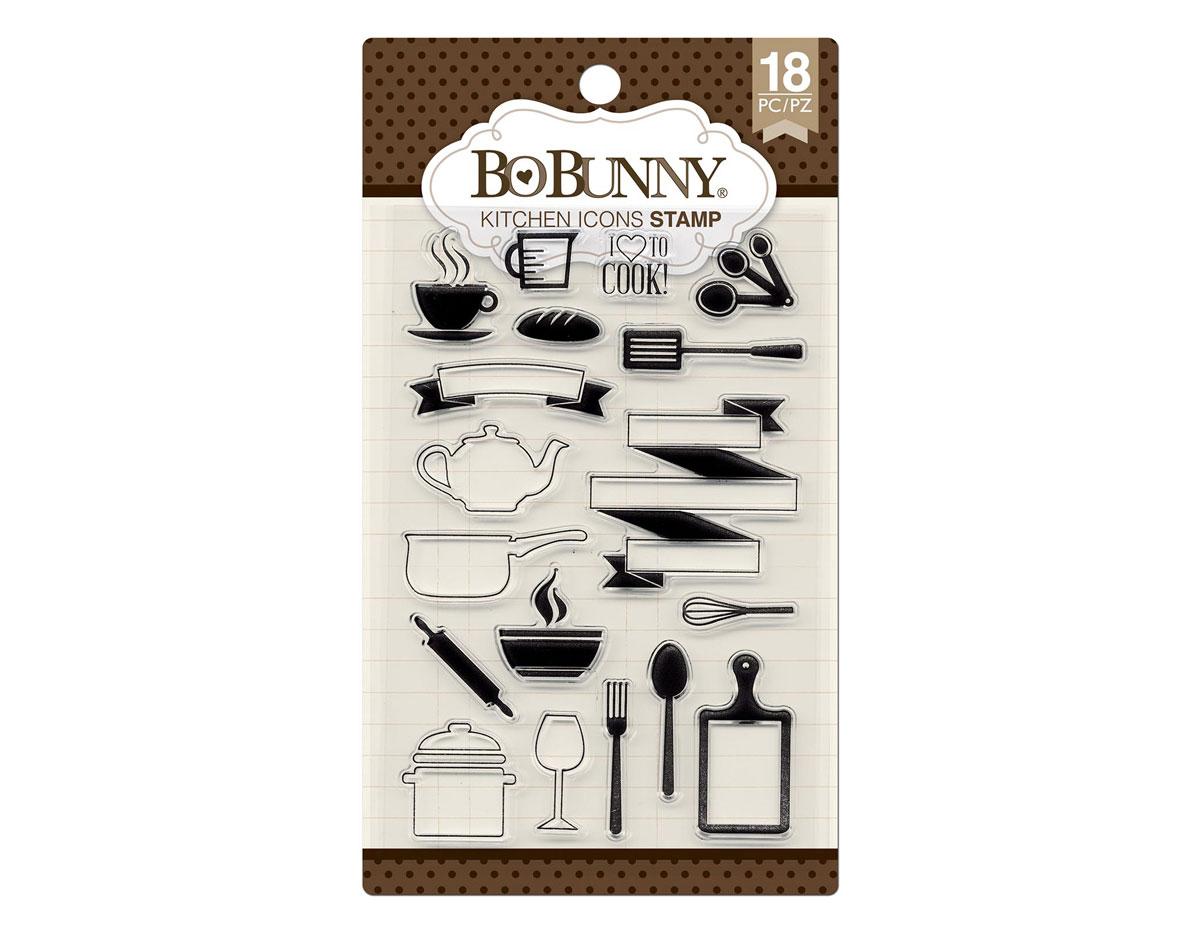 7310253 Set sellos acrilicos iconos cocina 11x19cm BoBunny