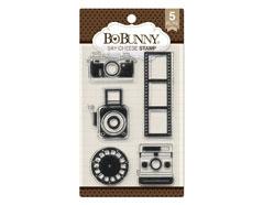 7310256 Set sellos acrilicos camaras carrete 11x19cm BoBunny
