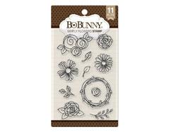 7310258 Set sellos acrilicos simplemente flores 11x19cm BoBunny - Ítem