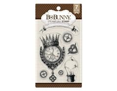 7310259 Set sellos acrilicos Steampunk 11x19cm BoBunny