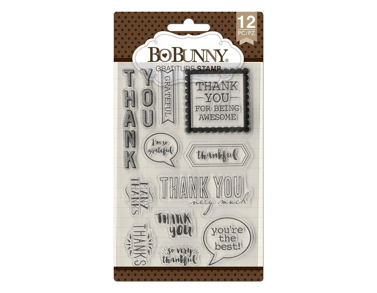 7310500 Set sellos acrilicos frases gratitud 11x19cm BoBunny