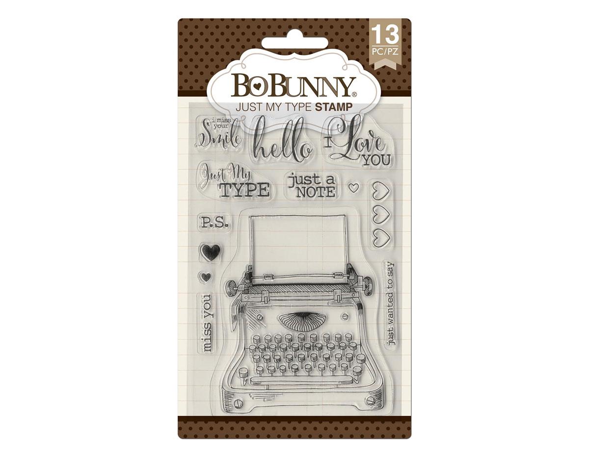 7310501 Set sellos acrilicos amor tipografico 11x19cm BoBunny