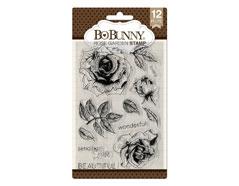 7310502 Set sellos acrilicos jardin de rosas 11x19cm BoBunny